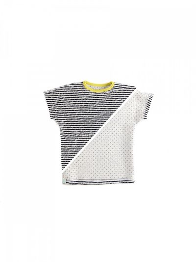 STRIPED T-SHIRT REVERSIBLE (CRASH KNIT)