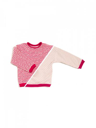 STRIPE PULLOVER REVERSIBLE (CRASH STRUCTURE KNIT) – image 2