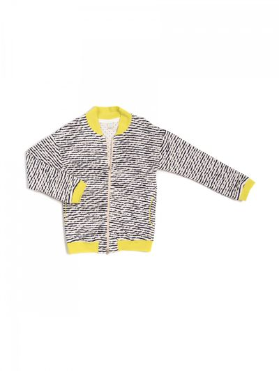STRIPE BOMBER (CRASH KNIT) – image 6