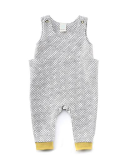 SHORT SLEEVE ROMPER (PEARL STRUCTURE KNIT) – image 2