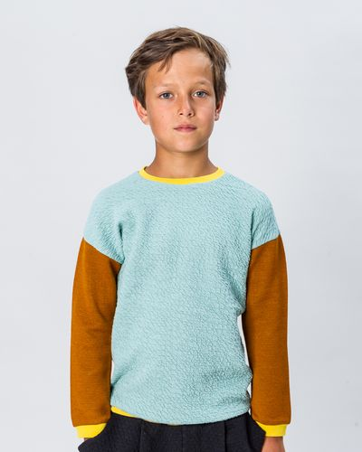 MERINO PATCHWORK PULLOVER  (STRICK MIX)