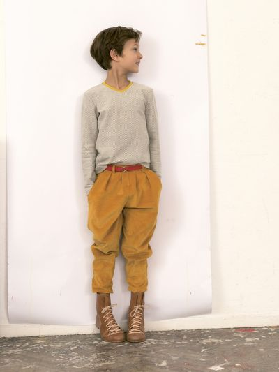 PLEATED PANTS CORDUROY – image 2