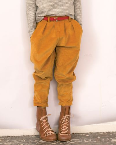 PLEATED PANTS CORDUROY – image 1