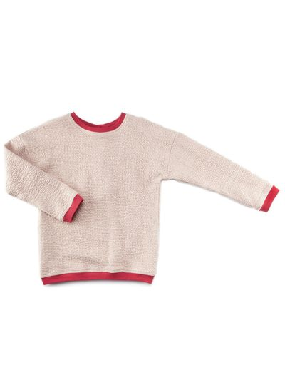 ROUNDNECK PULLOVER (RELIEF STRUCTURE KNIT) – image 1