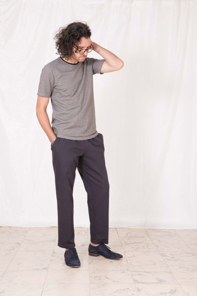 T-SHIRT DARK PEARL STRUCTURE KNIT – image 1