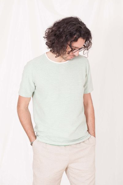 T-SHIRT DARK PEARL STRUCTURE KNIT – image 5