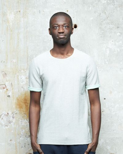 T-SHIRT PEARL STRUCTURE KNIT – image 1