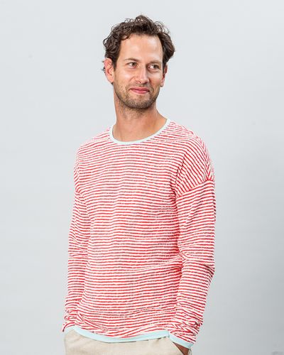 STRIPE PULLOVER REVERSIBLE (CRASH STRUCTURE KNIT) – image 1