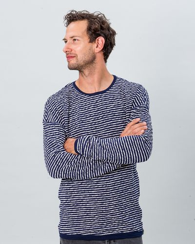 STRIPE PULLOVER REVERSIBLE (CRASH KNIT) – image 1