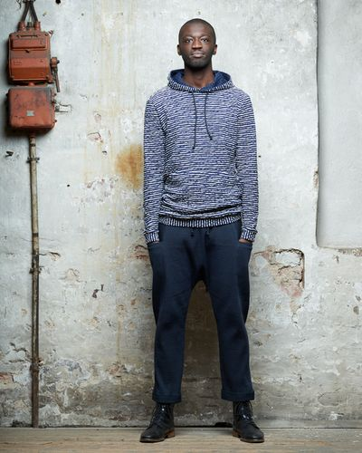STRIPE HOODY (CRASH STRUCTURE KNIT) – image 3