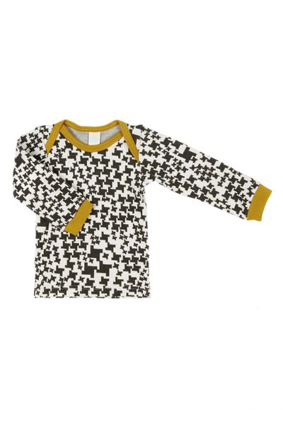 LONG SLEEVE T-SHIRT (HOUNDSTOOTH JACQUARD KNIT) – image 1