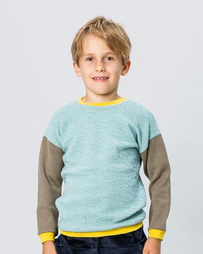 MERINO PATCHWORK PULLOVER (KNIT FABRIC MIX) – image 1