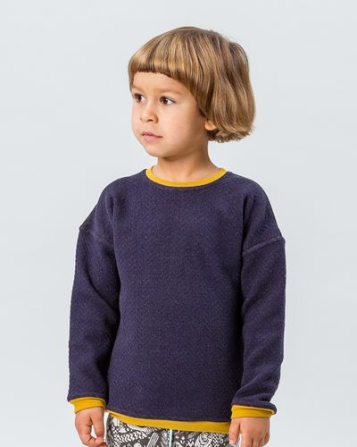 MERINO ROUND KNECK PULLOVER (HERRINGBONE STRUCTURE KNIT) – image 4