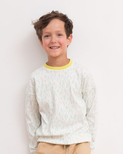 JERSEY PULLOVER (2/2 RIB KNIT PRINT) – image 1