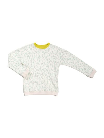 JERSEY PULLOVER (2/2 RIPPE MIT PRINT)