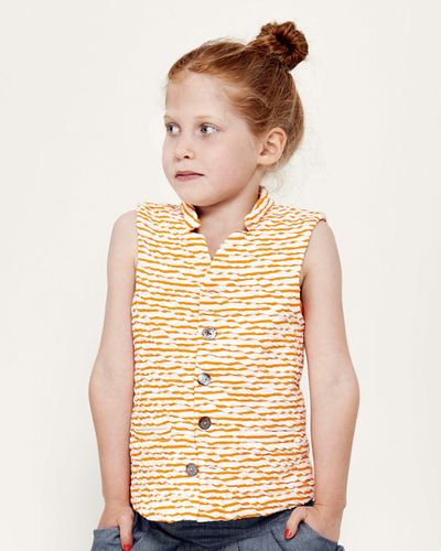 STRIPE VEST (CRASH KNIT) – image 1