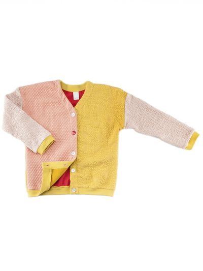 MERINO PATCHWORK CARDIGAN (KNIT FABRIC MIX) – image 3