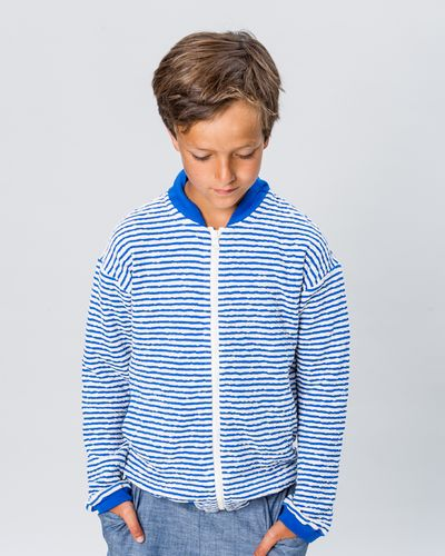 STRIPE BOMBER (CRASH KNIT) – image 1