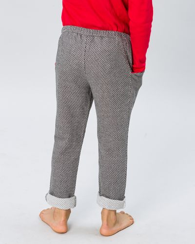 DRAWSTRING WAIST PANTS PEARL KNIT INSIDE – image 2