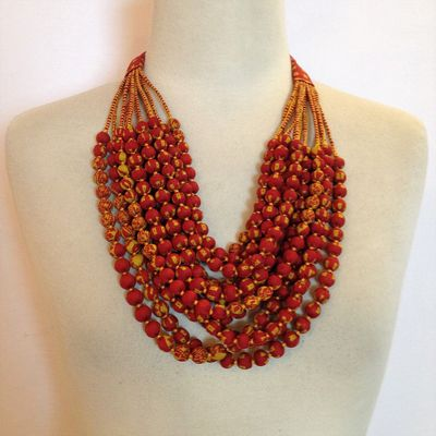 Sari Bead Necklace - 12 string – Bild 2