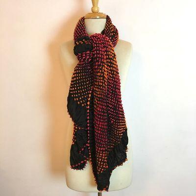 Mulitcolor Bandhani silk scarf Tie & Dye – Bild 1