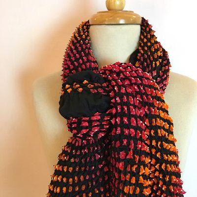 Mulitcolor Bandhani silk scarf Tie & Dye – Bild 2