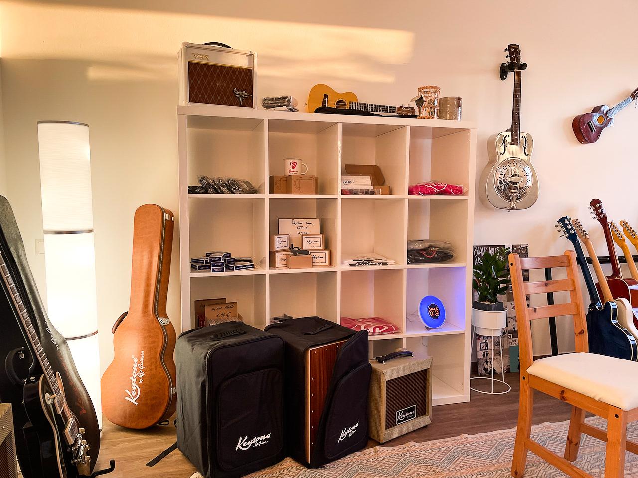 Zubehör und ausgewählte Gitarrenmodelle direkt vor Ort verfügbar!