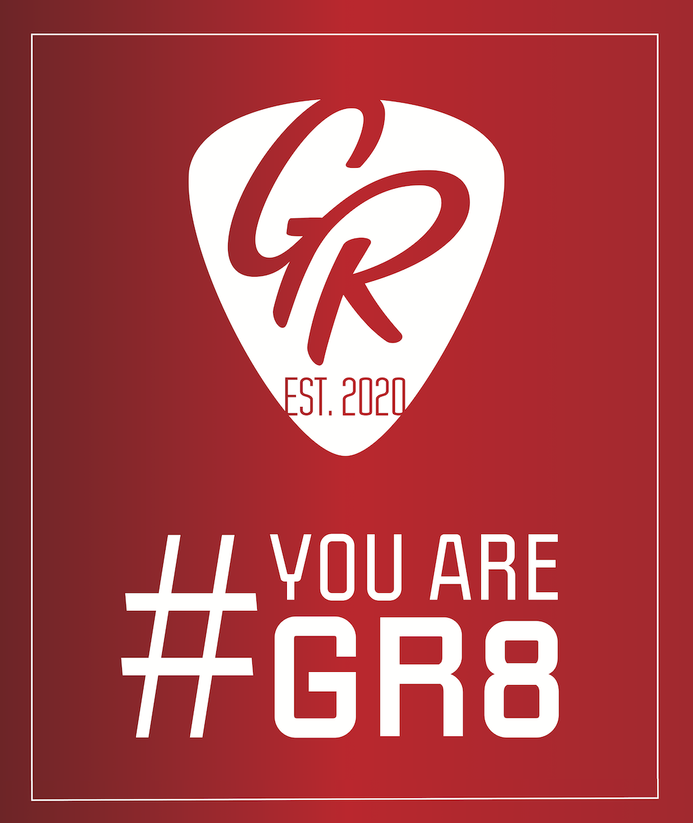 YOUAREGR8 Logo by GR Guitars