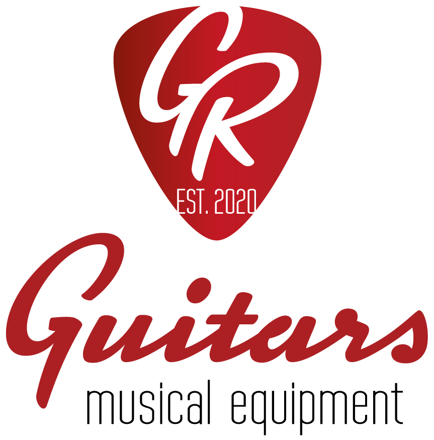 GR Guitars est. 2020 musical equipment Logo Hochformat