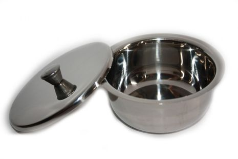 Razzoor Stainles Steel Lathering bowl with lid