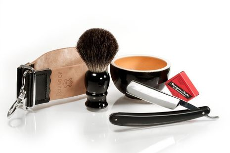 Promotion: Rasiermesser Set  Orange 'n Black + RAZZOOR After Shave Balm – Bild 1