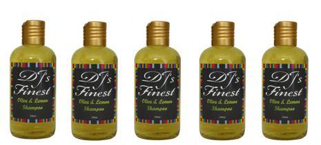 DJ'S Finest Olive and Lemon Shampoo 5er-Sparpack (5x250ml)