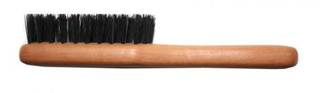 Beard brush with boar bristles