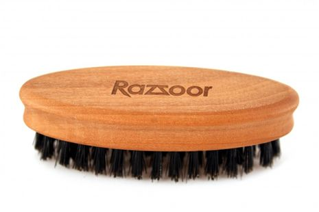 RAZZOOR Oval beard brush, with natural bristles – Bild 3