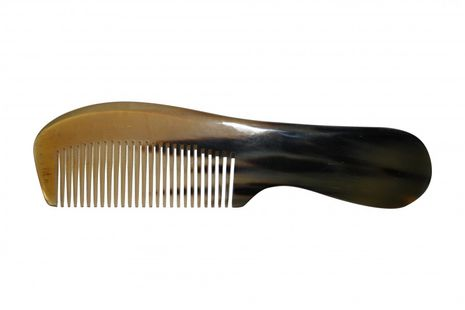 Bilson handle comb made from genuine Buffalo Horn, 17cm