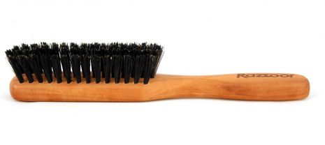 RAZZOOR Large beard brush with boar bristle with handle for proper beard care – Bild 2