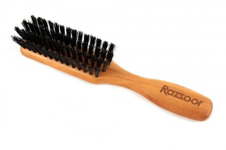 RAZZOOR Large beard brush with boar bristle with handle for proper beard care – Bild 1