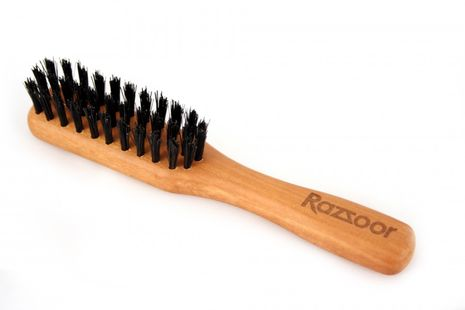 RAZZOOR beard brush with handle and boar bristle, 14cm – Bild 1