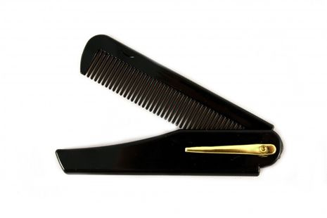 RAZZOOR 2 Piece Set Of Folding Beard Comb With Clip - 10cm Long Made From Robust Plastic – Bild 2