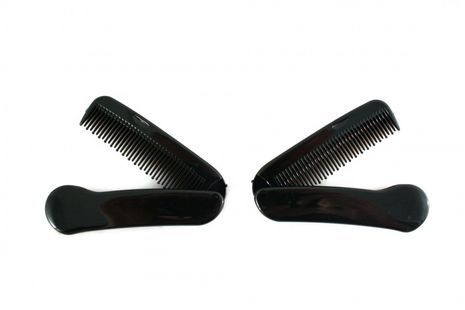 Bilson 2 pieces beard combs made of plastic - ideal for traveling – Bild 1