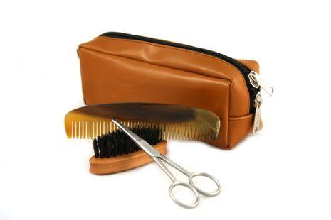 Bartpflege Set im braunen Lederetui – Bild 1