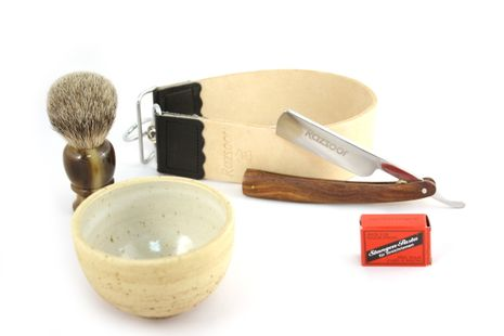 Rasiermesser Set Edelholz Palisander 5-teilig – Bild 1