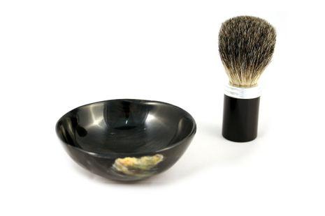 korium Rasierpinsel Set Alu/ Büffelhorn Dachshaar – Bild 1