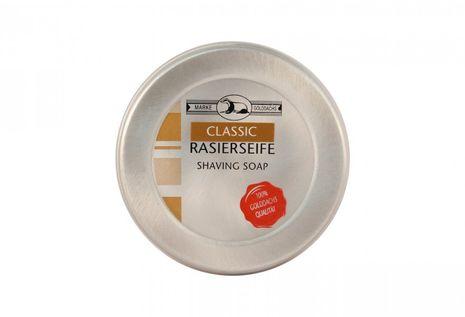 Golddachs Rasierseife Classic in Aluminium-Dose