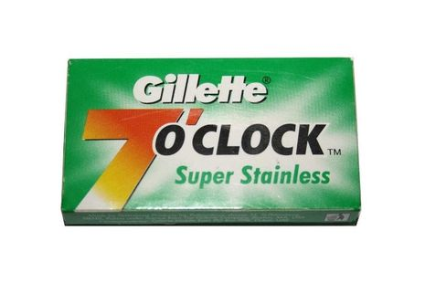 5 Gillette 7o'clock Super Stainless Rasierklingen