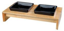 Napf-Set, Keramik/Holz