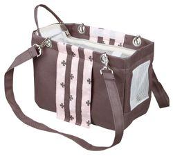 Trixie, Tasche Fina, 14 × 20 × 26 cm, taupe/rosa