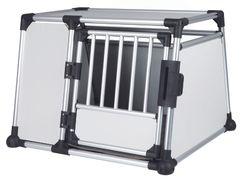 Trixie, Transportbox, Aluminium, L: 93 × 64 × 81 cm, silber/hellgrau