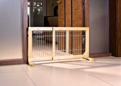 Trixie, Hunde-Absperrgitter, Holz, 65–108 × 50 cm – Bild 2