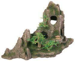 Trixie, Felsformation mit Höhle/Pflanzen, 45 cm